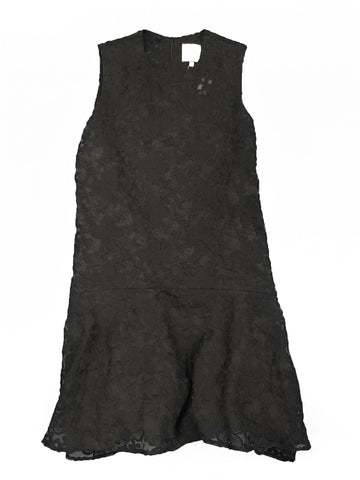 EDIT Black Embroidered Sleeveless Dress