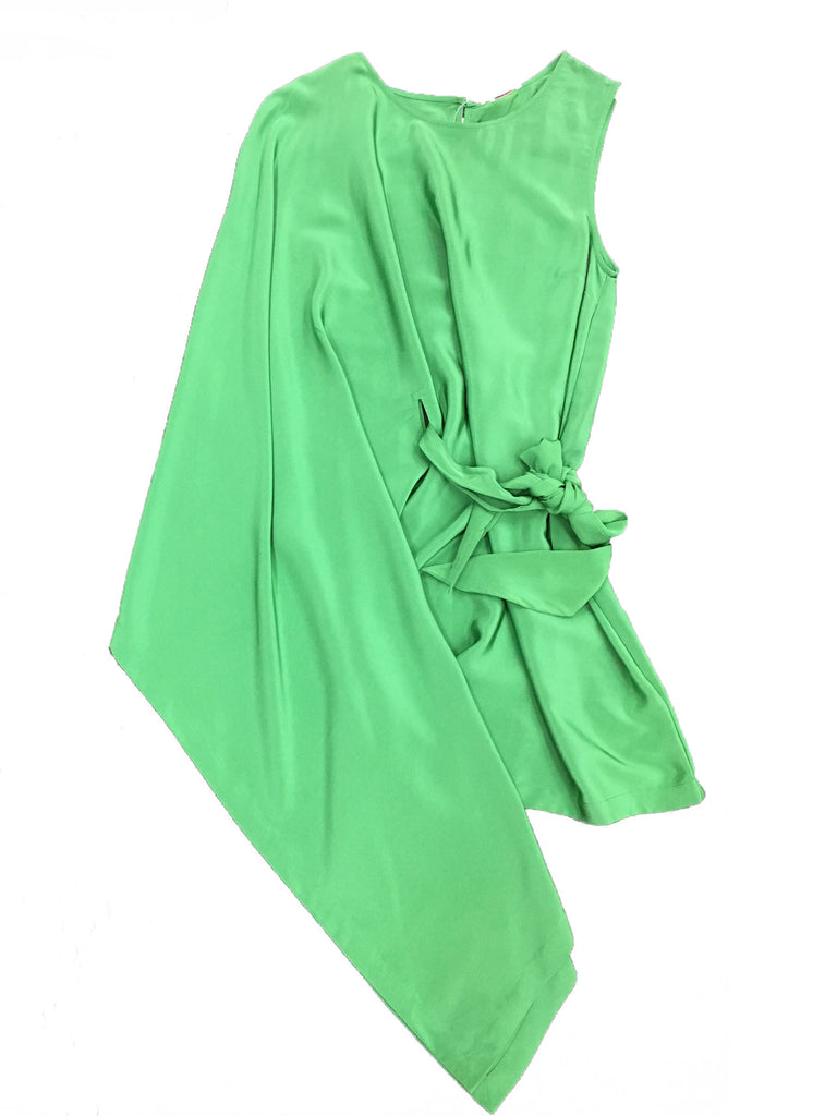 SASS & BIDE Green One-shoulder Dress
