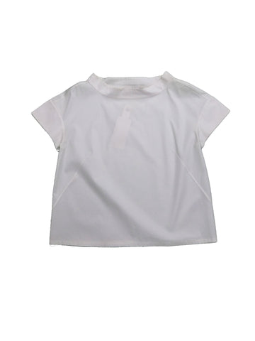 CALVIN KLEIN White Mixed Cotton Top
