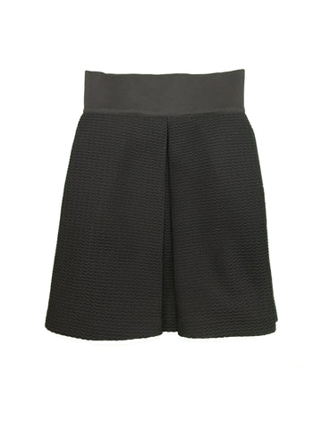 BERGDORF GOODMAN Black Pleated Skirt