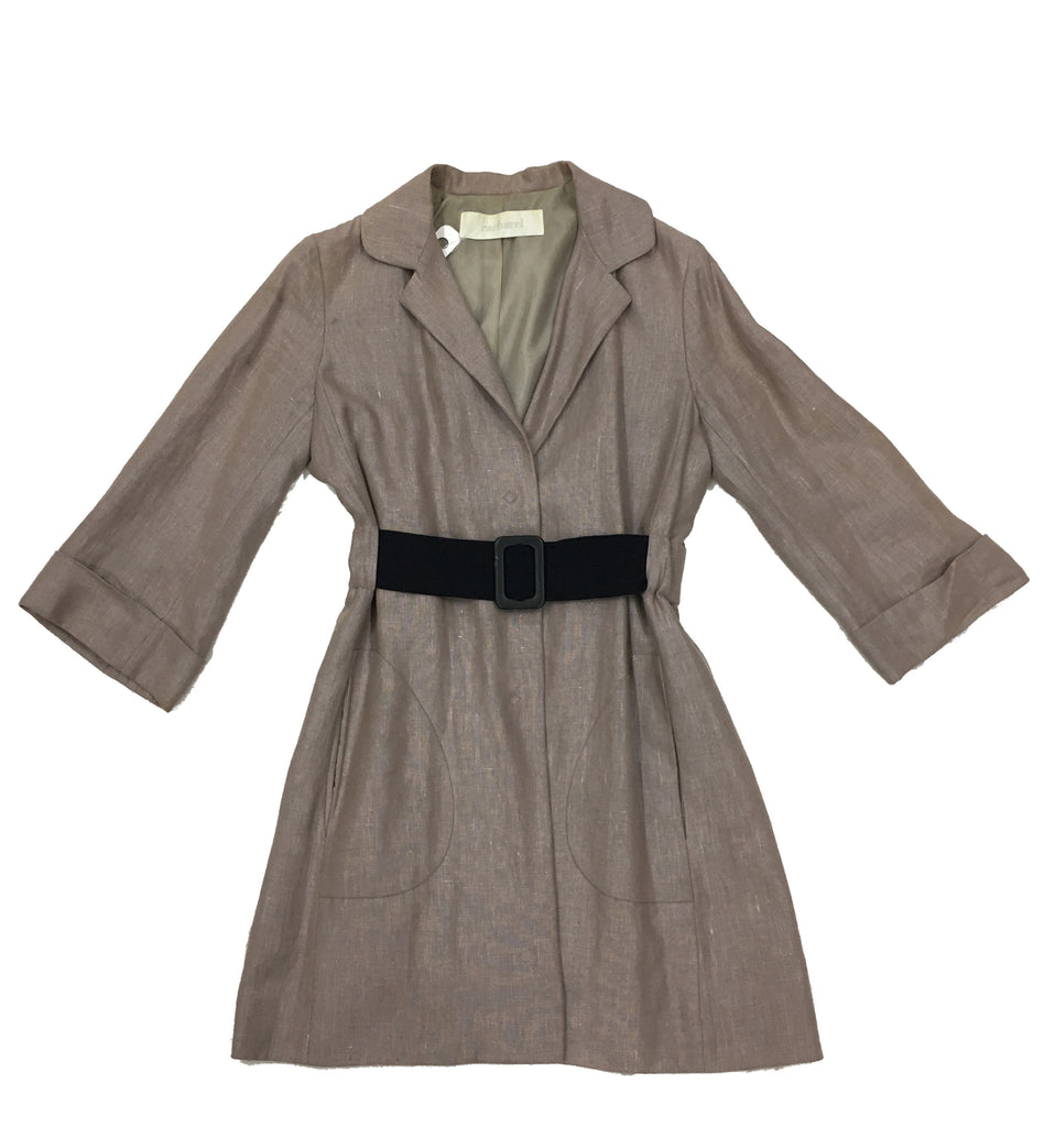CACHAREL Taupe Coat with Belt