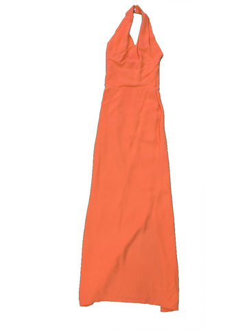 DRESS UP Peach Halterneck Dress