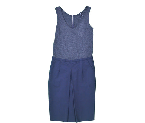 CLUB MONACO Grey and Navy Dress