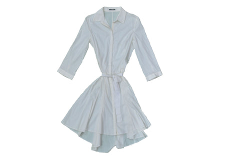 ELIE TAHARI White Shirt Dress