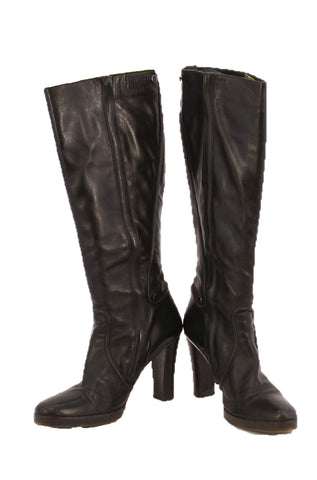 CALVIN KLEIN Black Knee-high Boots