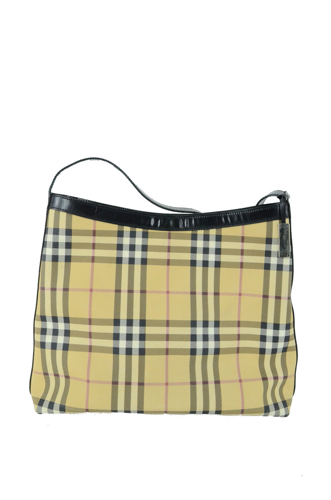 BURBERRY (style) Biege and Black Plaid Handbag