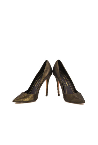 a4e105ffb8e JEAN-MICHEL CAZABAT Shiny Metallic Pointed Heels