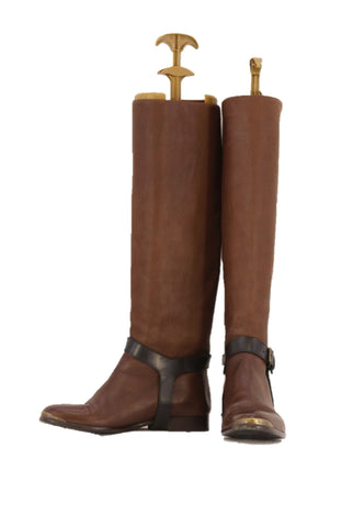 Lanvin Brown Knee High Boots
