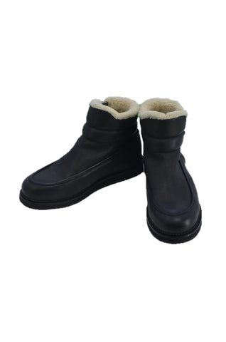 SILENT DAMIR DOMA BLACK LEATHER BOOTS