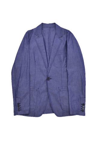 LANVIN BLUE COTTON BLAZER