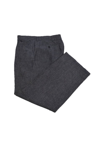 JOHN VARVATOS DARK GRAY LINEN TROUSERS