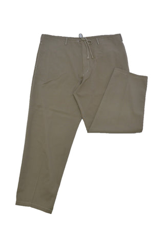 Y's BEIGE WOOL TROUSERS WITH DRAWSTRING WAIST