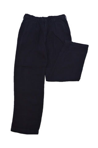 Y's BLACK LINEN TROUSERS