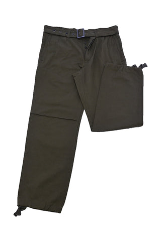 Y's OLIVE PANTS WITH THICK WAISTBAND