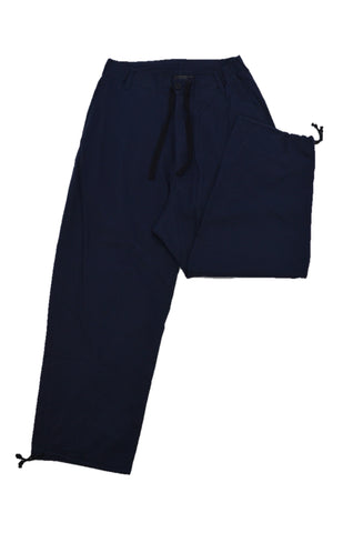 Y-3 NAVY PANTS WITH WAIST STRING
