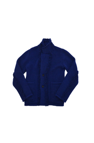 ALEXANDER MCQUEEN ROYAL BLUE CARDIGAN