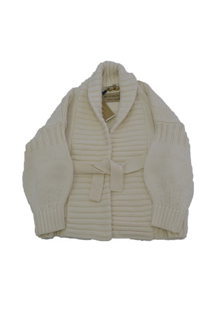 BURBERRY IVORY WOOL/CASHMERE CARDIGAN