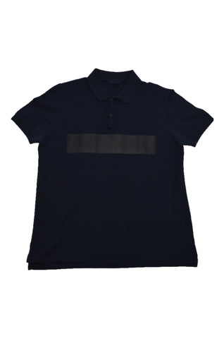 LANVIN NAVY COTTON POLO SHIRT