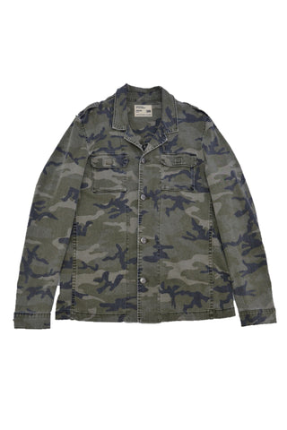 GOLDEN AESTHETICS MULTI-COLOUR COTTON JACKET WITH MILITARY PRINT