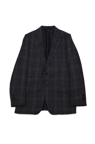 TOM FORD 3-PIECE BLACK/GRAY WOOL SUIT
