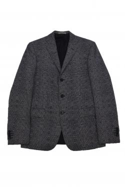 BOTTEGA VENETA DARK GRAY WOOL BLAZER