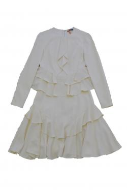 ALEXANDER  MCQUEEN IVORY DRESS