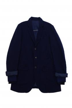 UNDERCOVER NAVY WOOL COAT