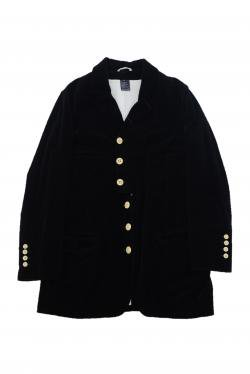 ANN DEMEULEMEESTER BLACK COTTON COAT