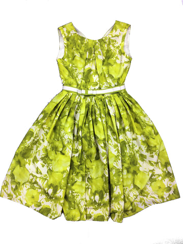 ANTONIO MARRAS Lime Green and White Sleeveless Dress