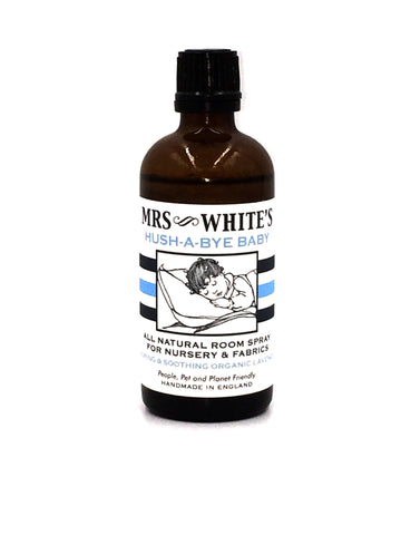 MRS WHITE'S - Hush-A-Bye Baby (All Natural Room Spray for Nurseries & Fabrics) 90ml