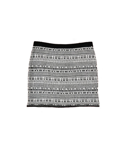 HELMUT LANG Black and White Ribbed Skirt