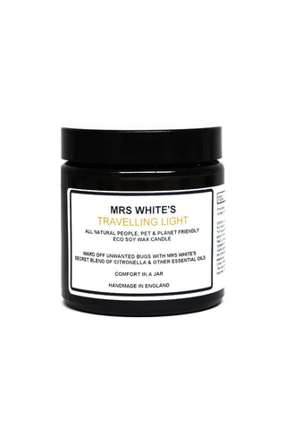 MRS WHITE'S - Travelling Light (All Natural Bug Repelling Candle) 100gm
