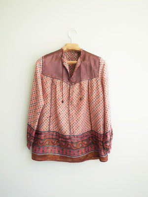 Cotton Gauze Pink Blouse