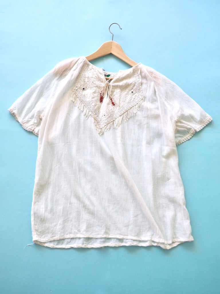 Cotton Gauze White Shirt
