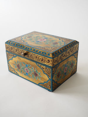 Vintage Painted Trinket Box