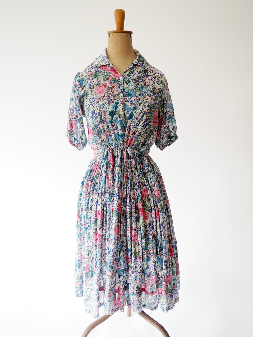 Floral Cotton Gauze Dress