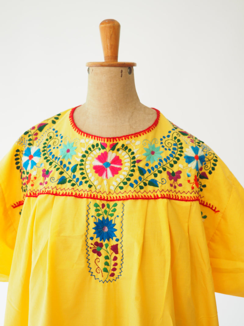 Yellow Embroidered Dress