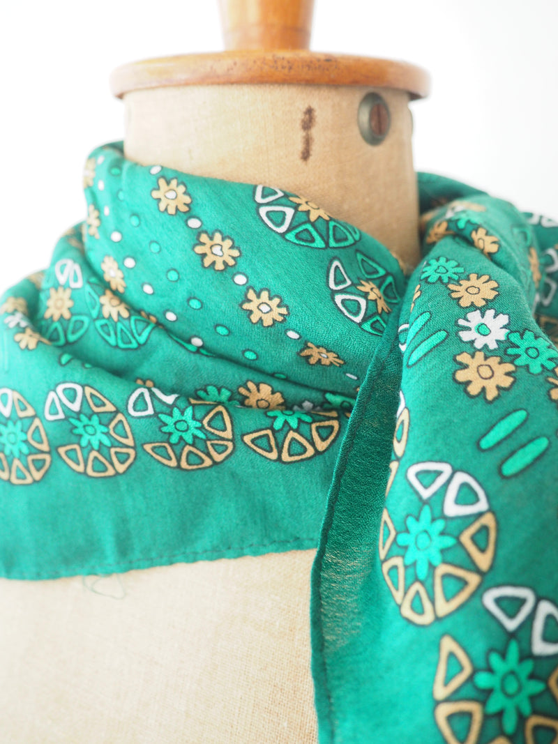 Emerald Floral Scarf