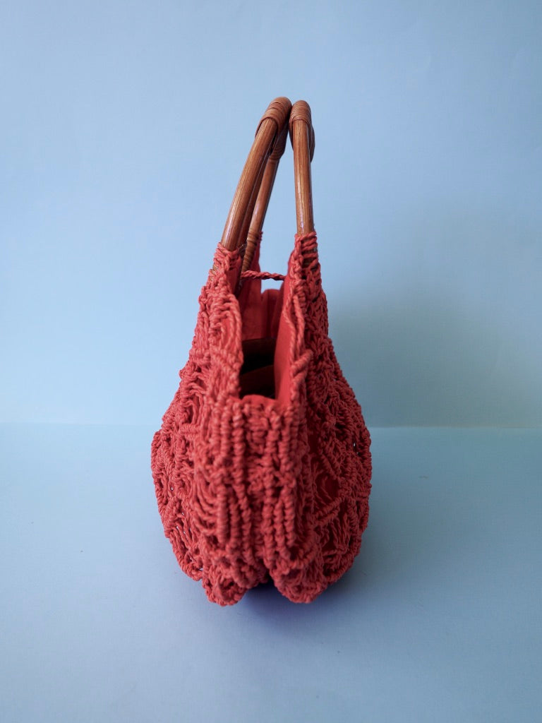 Woven Red Bag