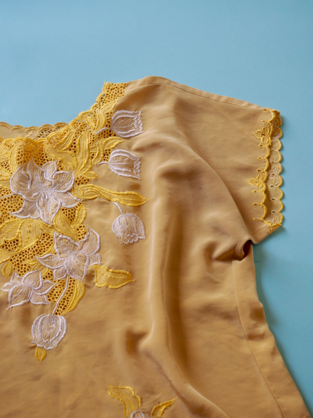 Yellow Lace Shirt