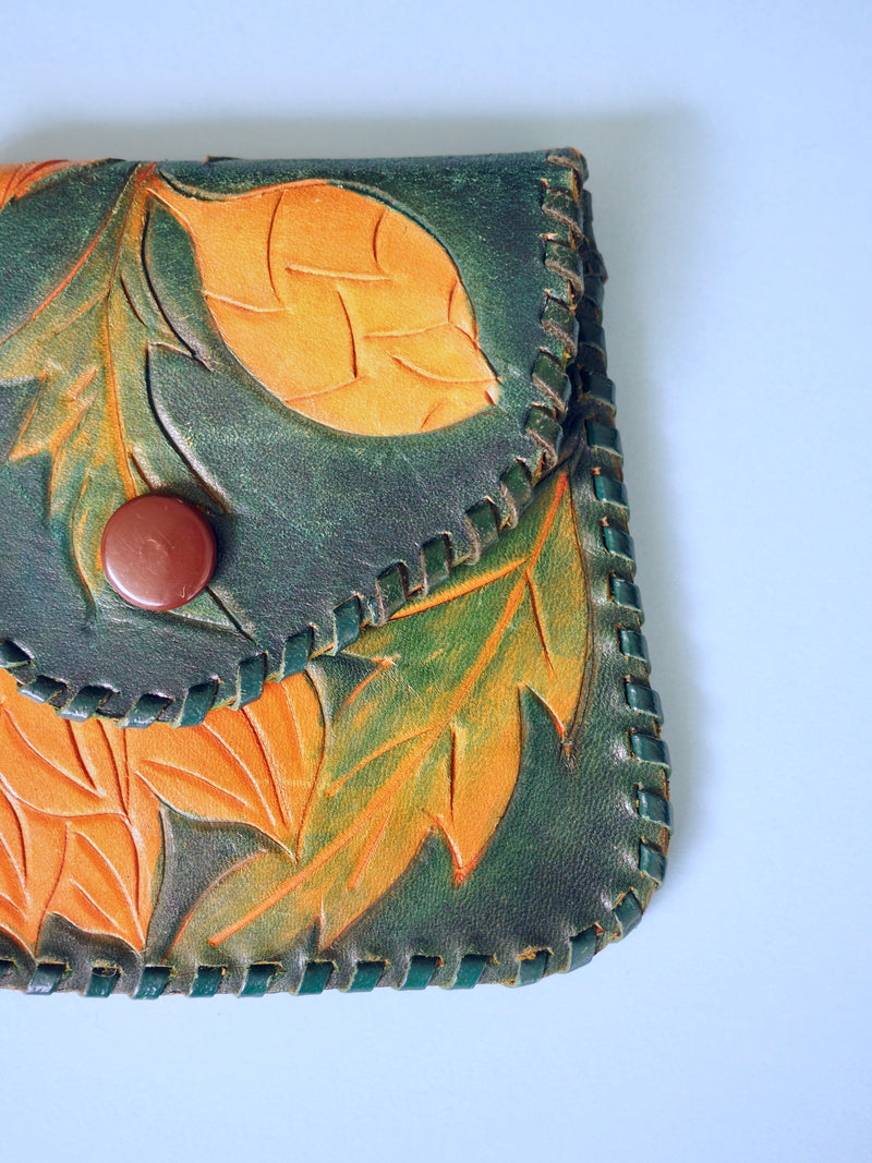 Leather Tooled Card Wallet