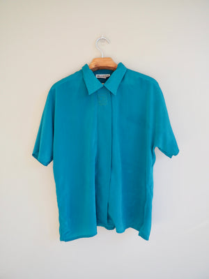 Teal Button up Shirt