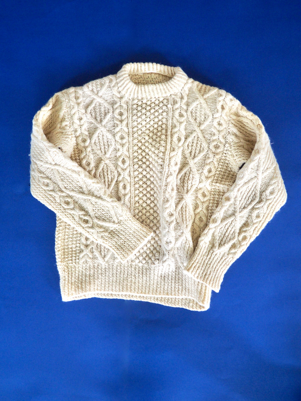 Fisherman White Knit Jumper