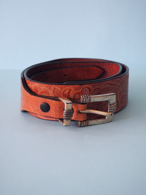Leather Floral Belt