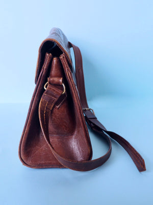 Leather Tooled Bag