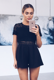 Alyssa Playsuit - Black Playsuit - Sert Store