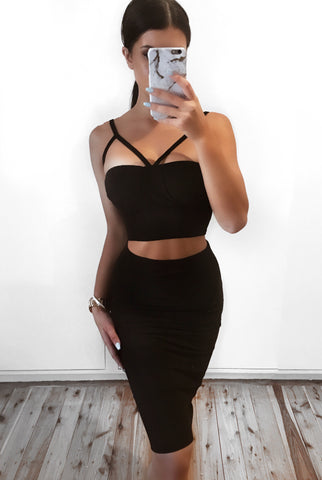 Eraser Bodycon Set - Black Set - Sert Store