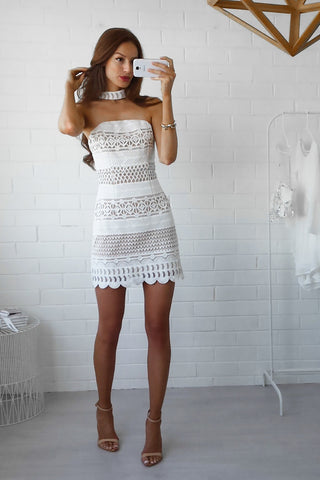 Choker Lace Dress Dress - Sert Store