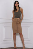 Remi Denim Skirt - Tan Skirt - Sert Store