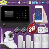 GS Wireless WIFI 3G GSM Security system | App Controlled Burglar Alarm System